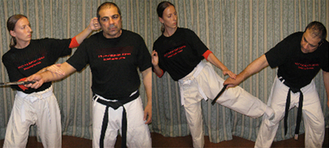 Photos of example Krav Maga uniform wear